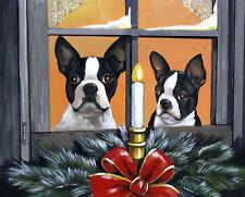 "Precious Pets Garden Flag - Boston Terrier Santa 12"" x 18"" ~ Charity!"