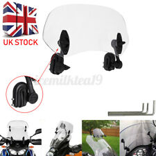 Universal Motorcycle Windshield Extension Clip On Wind Screen Transparent 28cm