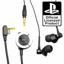 OFFICIAL SONY PLAYSTATION PSP HEADSET EARPHONES HEADPHONES WITH REMOTE NO BOX