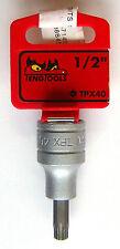 Teng Tools m121240-c TX Steckdose für int TX Köpfe 1.3cm Dr.tpx40 68250505