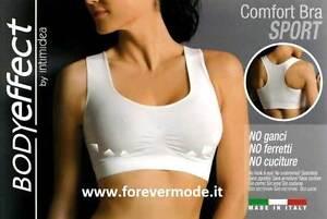 Reggiseno donna Body Effect sport, microfibra senza cuciture e ganci art 110590