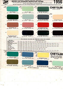 1955 1956 CHRYSLER WINDSOR NEW YORKER SARATOGA CROWN IMPERIAL PAINT CHIPS SW3