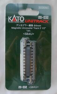 "Kato N Scale 20-032 Unitrack 64mm 2 1/2"" Uncoupler Track S64U"