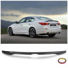 FITS 2014-2018 INFINITI Q50 Q50S OE STYLE CARBON FIBER STYLE TRUNK SPOILER WING