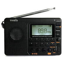 Hot TIVDIO Portable FM/AM/SW radio Bass Sound MP3 Player REC Voice Recorder US