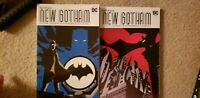 Batman New Gotham, Volumes 1 & 2 TPB's,  Greg Rucka!  Hight Grade