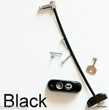 Black Lockable Window Security Cable Wire Door Restrictor Child Safety upvc Key