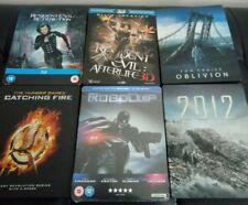 Lot 6 steelbook blu-ray Resident Evil - 2012 - Oblivion - Hunger Games - Robocop