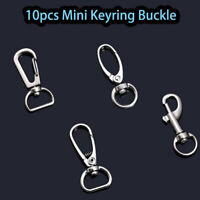 10x Lobster Clasps Trigger Swivel Clip Key Ring Bag Charm Finding Split Ring New
