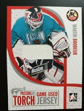2004-05 ITG Passing The Torch Jersey PTT-2 Martin Brodeur #ed/100