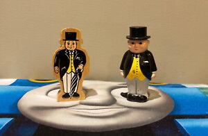Thomas & Friends Lot of 2 SIR TOPHAM HATT, Wooden & Plastic Figures