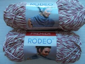 Premier Rodeo cotton blend twist yarn, Light Red, lot of 2 (265 yds each)
