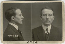 Photo Bertillon identification Policière Police Mug Shot Usa 1908