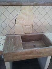 lavandino lavello lavabo cucina in pietra  travertino 1 vasca con gocciolatoio