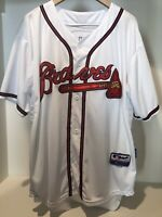 Authentic Majestic Atlanta Braves MLB Chipper Jones Size 50 White Jersey #10