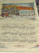 (Pgasteelers1) Calender Linen Winter is the Country 1978 senic view