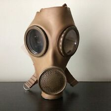 Collectable Brown Rubber Belgian Gas Mask With Original Tag #404