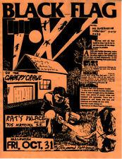 Raymond PETTIBON / Black Flag at the Rat's Palace Halloween 1980 Concert Flyer