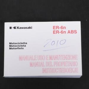 Manual De Usuario Propietario origine Moto Kawasaki 650 ER6 99976-1564 Occ