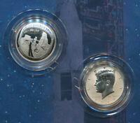 2019 S Apollo 11 50th Anniversary Half Dollar 2 coin Proof set w Reverse Kennedy