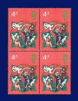 1970 SG838 4d Christmas Block (4) MNH Unmounted Mint aoxl