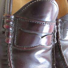 FRYE Sz 8 M US James Greg Penny Loafer Leather Cordovan Dark Brown Mens Shoes