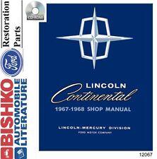 1967 1968 Lincoln Continental (No Mark) Shop Service Repair Manual CD