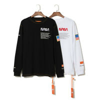 NASA Heron Preston T-shirt Long Sleeve Sweatshirt Black White Adult Fashion Tops