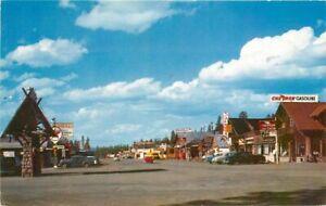 Autos Texaco Picturesque West Yellowstone Montana Postcard Roberts 20-1664