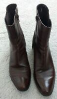 Classy Beautiful Bandolino Women's Ankle Boots, sz 6 1/2M, Brown Great Condition