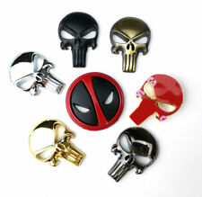 3D punisher metal emblem skull emblem sticker GUN Magwell Magazine Decal Sticker