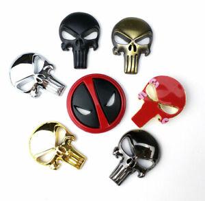 3D punisher metal emblem skull emblem sticker GUN Magwell Magazine Decal Sticker