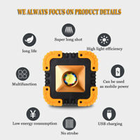 USB Rechargeable Solar LED COB Work Light Camping Emergency Lamp Floodlight