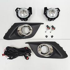 For 2014-2016 Mazda 3 Clear Lens Fog Driving Light Set w/Bezel Wires Switch Pair (Fits: Mazda)