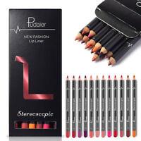 12PCS Lipstick Lip Liner Waterproof Long Lasting Matte Makeup Pencil Lip Pen Set