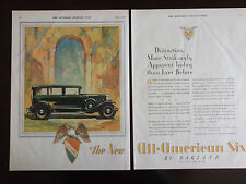 1929 Oakland All American Six Automobile Advertisement 2 Full Pages