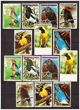 s19374) GUNEA EQUATORIAL 1976 MNH** Birds 7v COLOR PROOFS (5 SCANS) 9 SETS