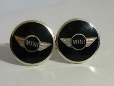 "Stunning Cased Designer Sterling Silver/Enamel ""MINI"" Cufflinks RRP £115"