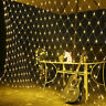 96/200/880LED Fairy Net Mesh Curtain String Lights Xmas Wedding Party Room Lamp