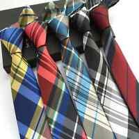 """SJ Lot 5 Pcs Mens Skinny Silk Tie Necktie JACQUARD Plaids Striped  Neck Tie 2.4"""""""