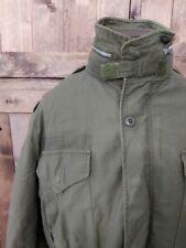 Incredible 1967 Vintage Army Hooded Field Jacket Long Medium fits Mens Xl