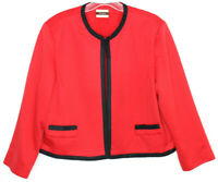Vtg Neiman Marcus Women's Open Front Red Blazer Jacket Size M