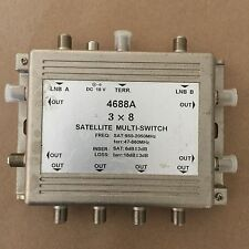 3 x 8 MultiSwitch Diplexer Signal Separator Satellite Cable TV Model 4688A
