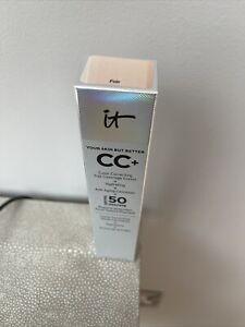 New It Cosmetics CC+ Colour Correcting Full Coverage Cream. Shade Fair