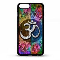 Aum om symbol namaste symbol floral flower yoga pattern print phone case cover