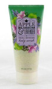 Apple Blossom Lavender Shea Butter Body Scrub Bath and Body Works 6oz NEW fruity