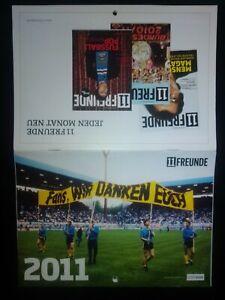 11 Freunde Kalender 2011 Sammler BVB S04 Bayern München 1860 HSV