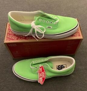 VANS Era Neon Green Gecko & True White Skate Shoes