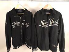 Polo Ralph Lauren Lot Of 2 Black Chainstitch NY Shirt Retro Sweater Sz XL