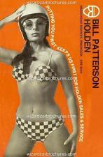1971 BILL PATTERSON HOLDEN A3 SEXY BIKINI GIRL POSTER AD SALES BROCHURE ADVERT